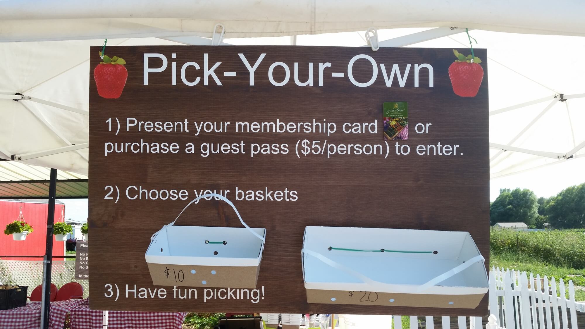 Pick Your Own Signage